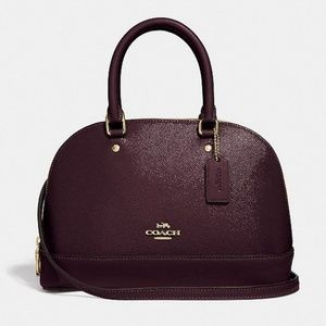 COACH Mini Sierra Satchel Oxblood NWT